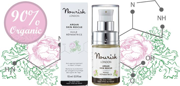 Nourish Argan Rescue organikus arcszérum